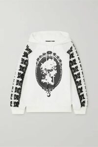 McQ Alexander McQueen - Jibusho Embroidered Printed Cotton-jersey Hoodie - White