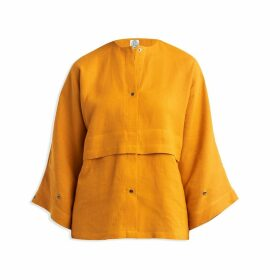 Cleo Prickett - Kimono Shirt In 100% Saffron Irish Linen
