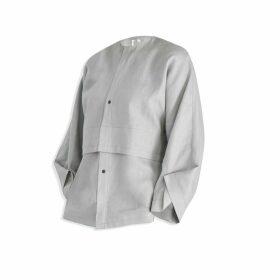 Cleo Prickett - Kimono Shirt in Grey Heavy Weight 100% Irish Linen