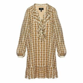 Nissa - Ruffle Applique Viscose Dress
