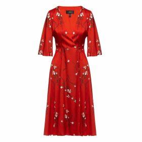 Nissa - Wraped Floral Print Dress