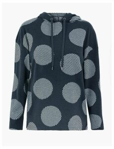 M&S Collection Polka Dot Hooded Sweatshirt