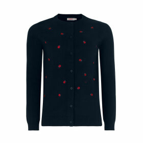 Scattered Ladybird Embroidered Cardigan