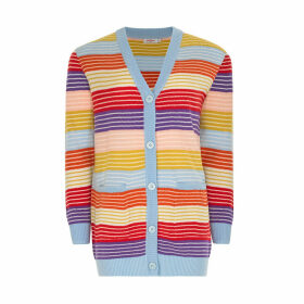 Striped Grandad Cardigan