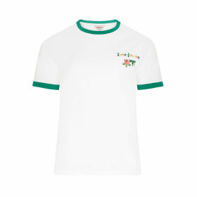 Bathing Frogs Embroidered T-Shirt