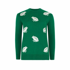 Bathing Frogs Intarsia Jumper