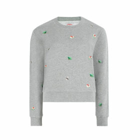 Bathing Frogs Embroidered Sweatshirt