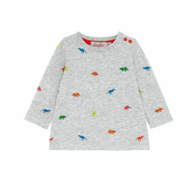 Tiny Dino Stamp Baby Long Sleeve Tshirt