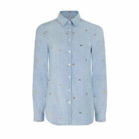 Mushroom Embroidered Shirt