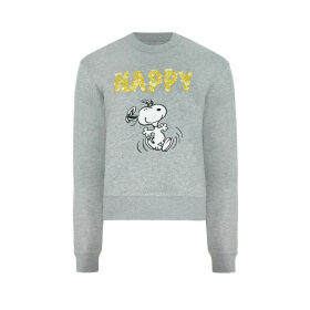 Snoopy Happy Paper Ditsy Cropped Sweatshirt