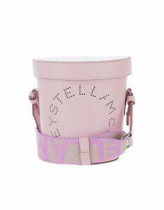 Stella McCartney Designer Handbags, Lilac Stella Logo Bucket Bag