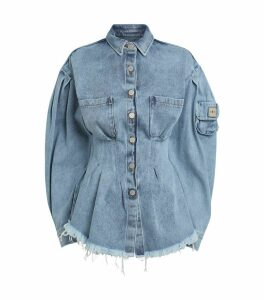 x Duo Corseted Denim Shirt