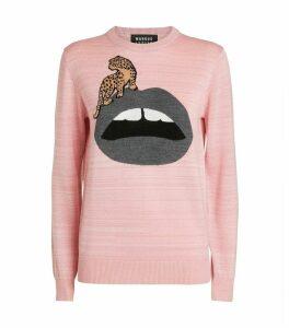 Mia Lip Leopard Sweater