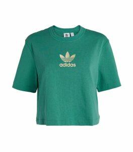 Trefoil Cropped T-Shirt