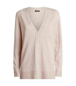 Cashmere Crystal-Trim Cardigan