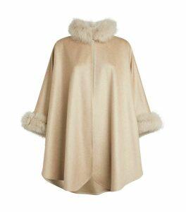 Cashmere Fox Fur Cape