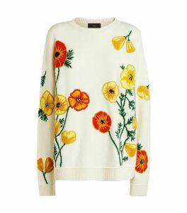 Poppy Blossom Cashmere Sweater