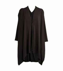 Pleated Jersey Cardigan