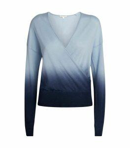 Ombré Cashmere Crossover Sweater