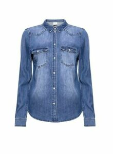 Womens Vero Moda Blue Denim Shirt, Blue