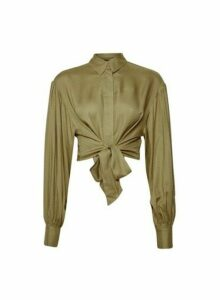 Womens **Lola Skye Green Oversized Shirt, Green
