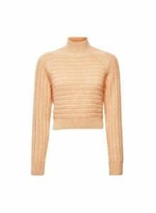 Womens Lola Skye Apricot Chunky Jumper - Orange, Orange