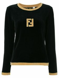 Fendi Pre-Owned long sleeve fitted sweatshirt - Black