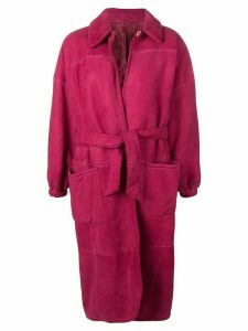 Gianfranco Ferré Pre-Owned 1980's belted coat - PINK