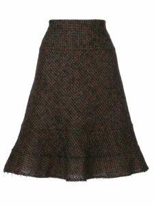 Junya Watanabe Comme des Garçons Pre-Owned raw edge skirt - Brown