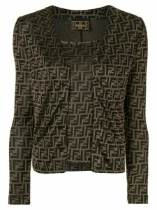 Fendi Pre-Owned FF logo cardigan and cami set - Brown