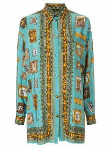 Fendi Pre-Owned long sleeve top - Blue