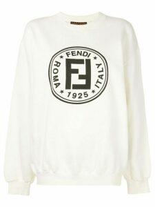 Fendi Pre-Owned FF logo print sweatshirt - White