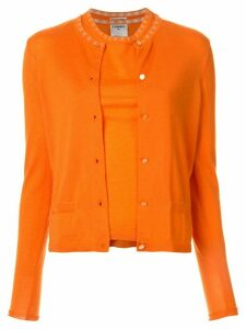 Chanel Pre-Owned Ensemble Cardigan Tops - ORANGE
