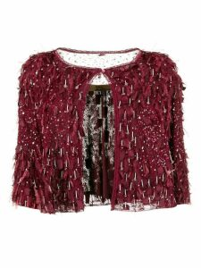 John Galliano Pre-Owned 2007 embellished cropped jacket - Red