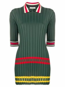 Céline Pre-Owned 2000 contrast stripe knitted top - Green