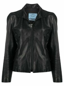Prada Pre-Owned 1990s leather jacket - Black