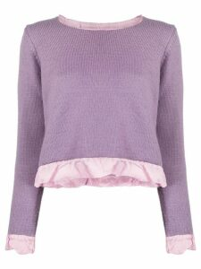 Maison Martin Margiela Pre-Owned 1990s ruffle trim sweater - PURPLE