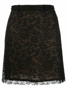 Versace Pre-Owned 1990's floral lace patterned skirt - Black