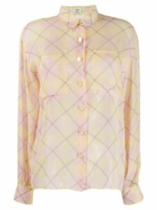 Valentino Pre-Owned 1990's diamond check print shirt - PINK