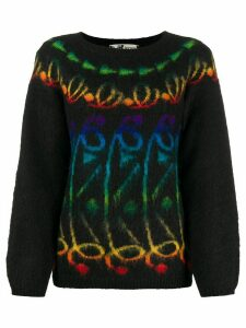 Kansai Yamamoto Pre-Owned 1980s patterned jumper - Black
