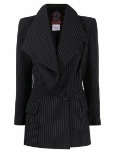 John Galliano Pre-Owned 1990s wide lapel pinstriped jacket - Black