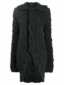 Comme Des Garçons Pre-Owned 2006 chunky knit elongated cardigan - Grey