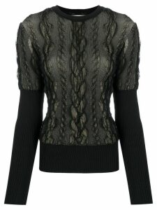 Christian Dior 2000s pre-owned textured woven jumper - Black