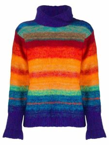 Kansai Yamamoto Pre-Owned 1980s Rainbow jumper - ORANGE