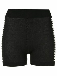 Nagnata Yoni side stripe compression shorts - Black