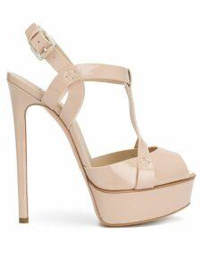 Casadei Flora platform sandals - NEUTRALS