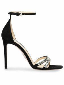 Prada crystal embellished sandals - Black