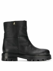 Jimmy Choo logo plaque ankle boots - Black