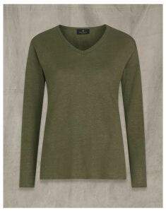 Belstaff AVERY LONG SLEEVED T-SHIRT Green