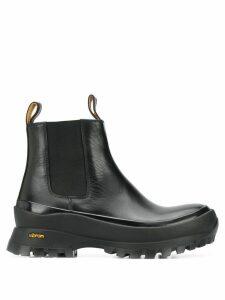 Jil Sander ridged sole boots - Black